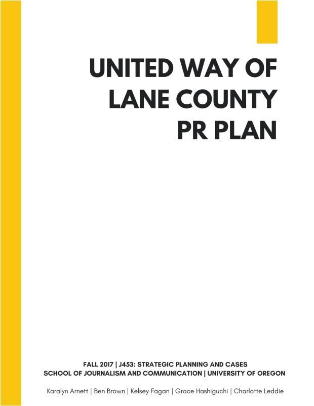 UWLC PR Plan Cover Page